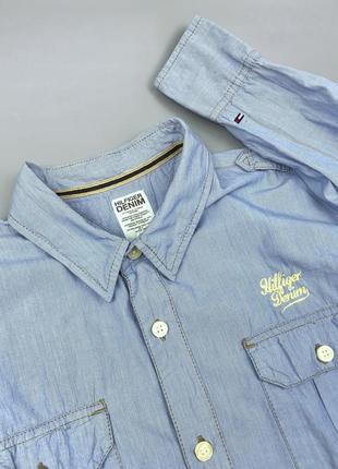 Рубашка tommy hilfiger denim royal оригинал размер m l polo la...