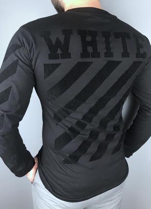 "Лонгслив off-white ""t-shirt"" размер m кофта ellesse stone isla..."