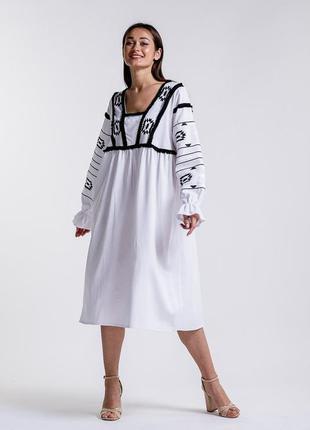 Платье-вышиванка 46-50 р