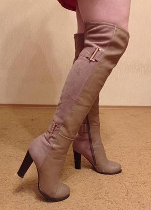 Шикарные ботфорты на высоком каблуке