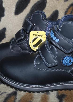 Детские зимние ботинки сапоги clibee для мальчика р.33-37