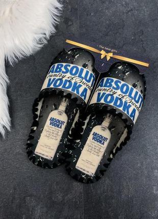 Тапочки мужские фетровые на подарок vodka / тапки чоловічі...