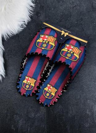 Тапочки мужские фетровые на подарок barcelona / тапки чоловічі...