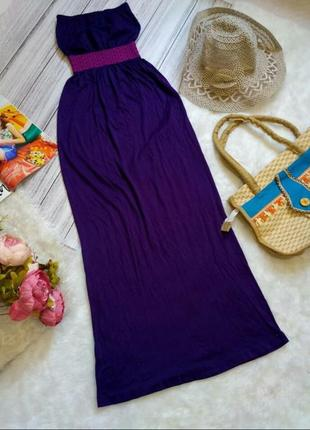 Красивое пляжное платье бандо на море размер 6-8 (хs-s)