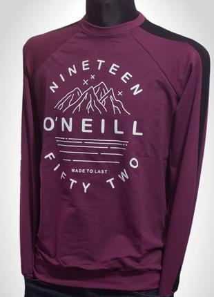 O'neill, весняний чоловічий реглан бордового кольору з оригінальн
