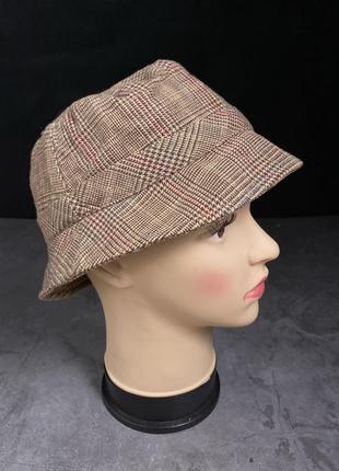 Шляпка стильная soft grey, хлопок