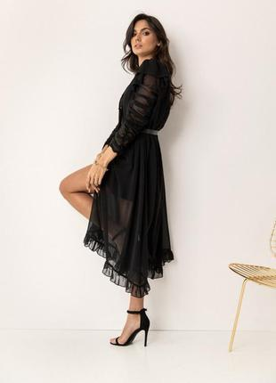 Сукня-комбінація з накидкою