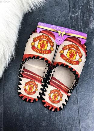 Тапочки мужские на подарок manchester united / тапки чоловічі...
