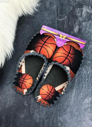 Тапочки мужские фетровые на подарок баскетбольный мяч / тапки...