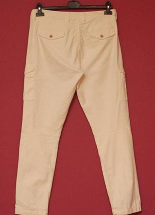 Gant рр us 8 uk 12 m-l карго брюки из хлопка и эластина, минер...