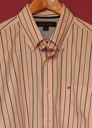 Tommy hilfiger рр m рубашка из хлопка 2-ply