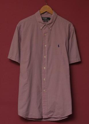 Polo ralph lauren 17 1/2 44 xl рубашка короткий рукав