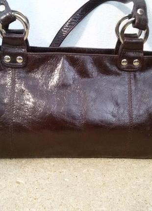 Шикарная кожанная сумка италия