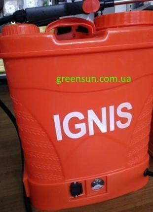 Опрыскиватель садовый Ignis 12л, ранцевый, аккумуляторный, игнис