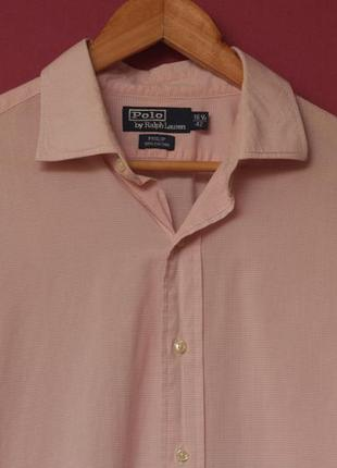 Polo ralphl lauren рр xl 16 1/2 42 philip cotton рубашка