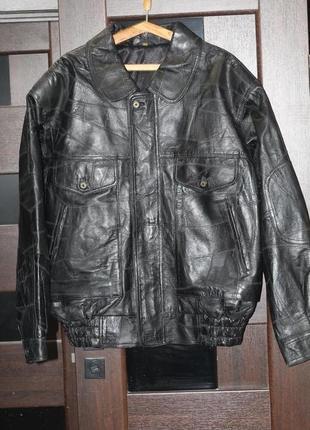 Шикарная кожаная куртка 54-56