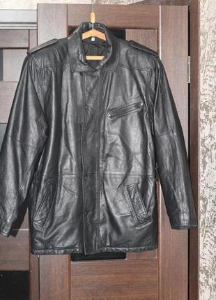 Стильная кожаная куртка 52-54