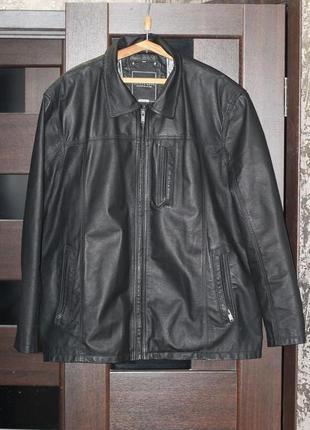 Добротная кожаная куртка canda 56-58