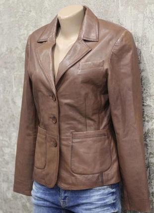 Пиджак из нежной кожи наппа mauritius 42-44