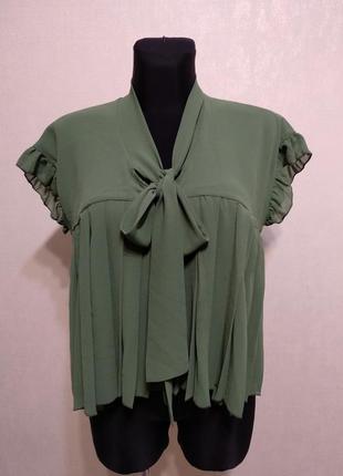 Лёгкая блузка свободного кроя для беременных,плиссе, рюшики im...