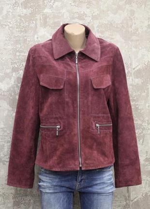Роскошный пиджак из натуральной замши piano women
