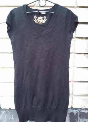 Удлиненная теплая футболка туника h&m