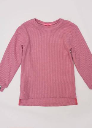Свитер для девочки вязаный, розовый
