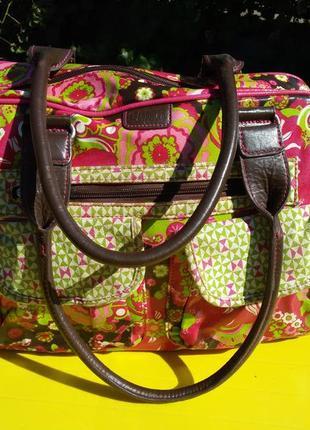 Большая сумка с кожаными ручками cas 8