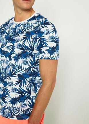 Оригинальная мужская футболка тропический принт