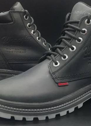 Кожаные мужские, стильные зимние ботинки wrangler, от 40 до 45...