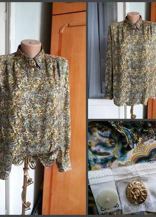 Эксклюзивная винтажная шелковая блуза peter hahn 100% шелк