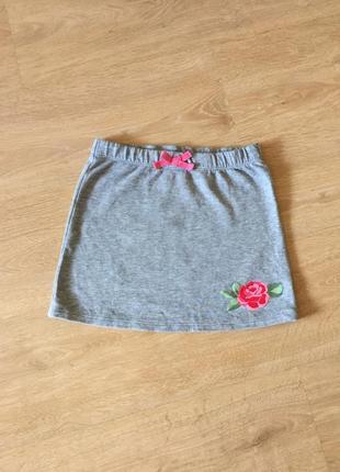 🌺 красивая трикотажная юбка с розой cubus