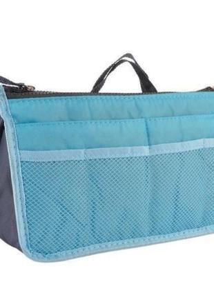 Уценка! сумка органайзер косметичка для сумки bag in bag blue