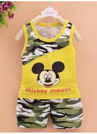 Костюм летний для мальчиков mickey mouse