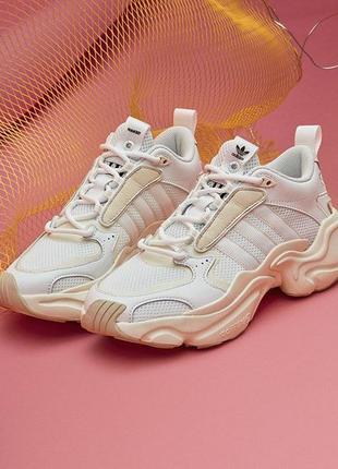 🍒женские кроссовки adidas x naked magmur runner cream white ад...