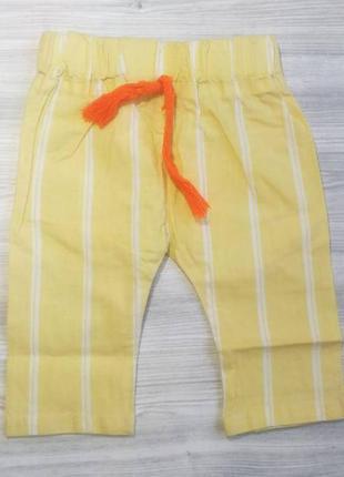 Бриджи для мальчиков хлопок желтые