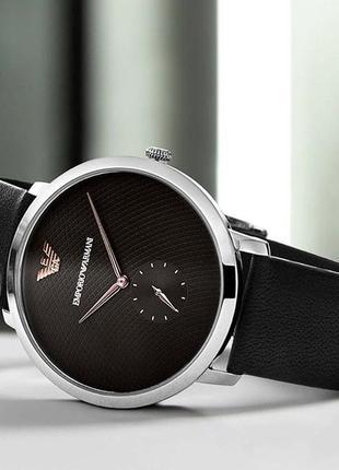 Мужские часы emporio armani modern ar11162 на кожаном ремешке