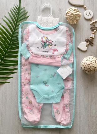 Подарок новорожденному комплект набор на выписку для девочки м...