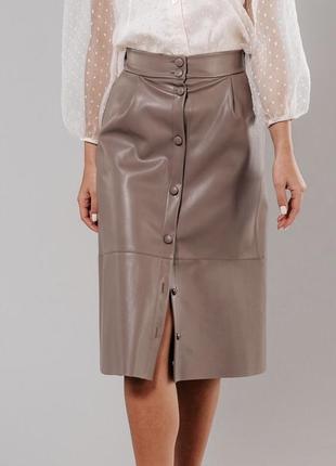 Шикарная юбка эко-кожа