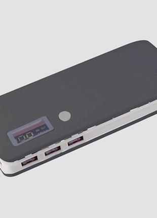 Повербанк без аккумуляторов на 5 элементов 18650 c встроенным фон