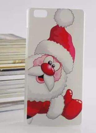 Чехол для Huawei P8 lite - Дед Мороз,  Санта Клаус,  пластик