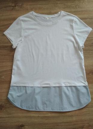 Белая футболка h&m, хлопок