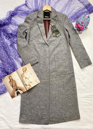Новое длинное пальто шерсть в стиле оверсайз