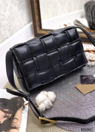 💥 стильная кожаная сумка плетеная
