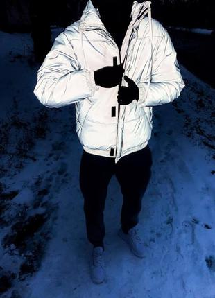 Зимняя рефлективная куртка