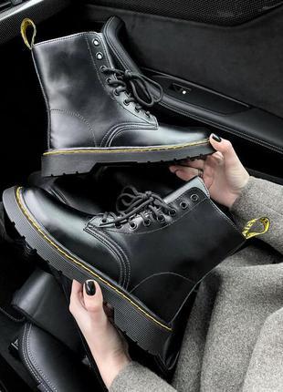 Женские ботинки с мехом