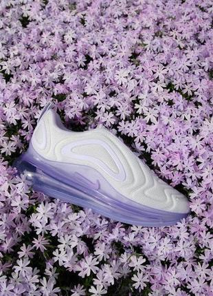 Женские кроссовки nike air max 720 violet white, демисезонные