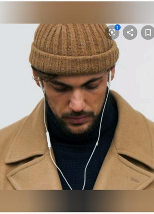 Шапка Mini Beanie , короткі шапки за уха стильний аксесуар