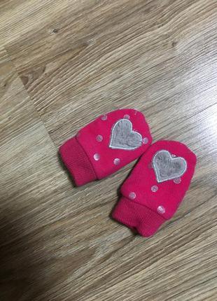 Царапки утеплённые на флисе варежки рукавицы