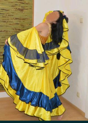 Шикарный цыганский костюм для танцев
